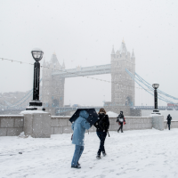 Cold weather in London