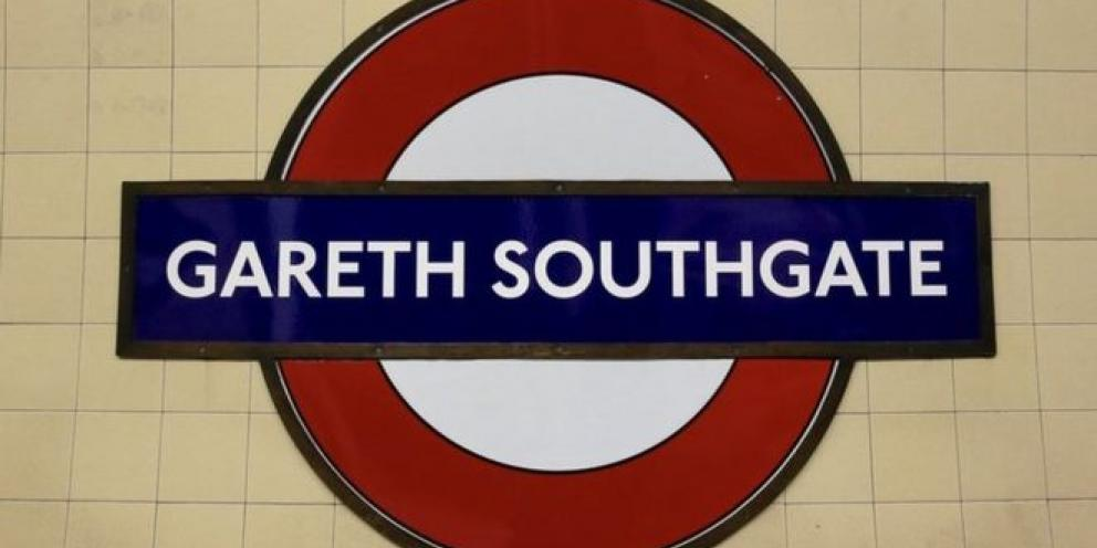 Tube sign Gareth Southgate