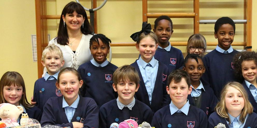 Flora Vidal and Team London Young Ambassadors from St Saviour's School in Lambeth