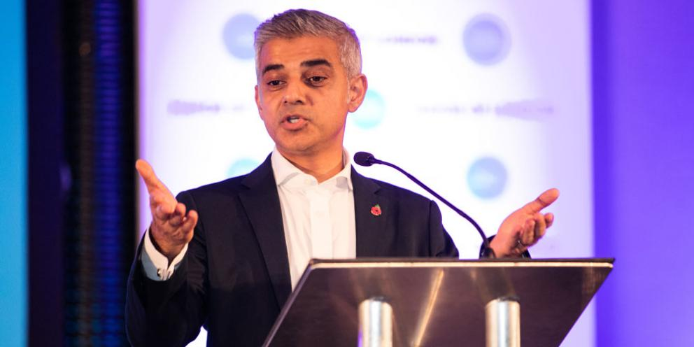 Sadiq Khan at the Team London Awards