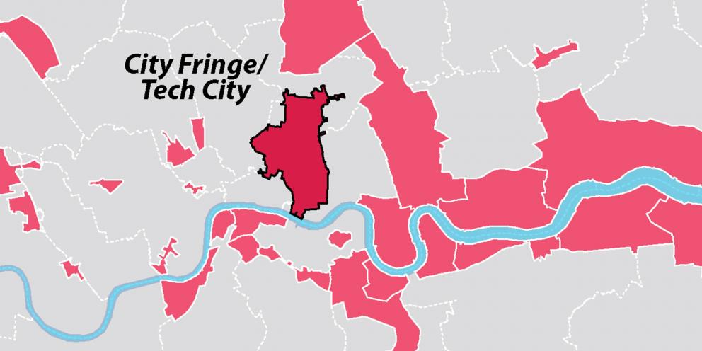 Map Of London By Area.City Fringe Opportunity Area London City Hall