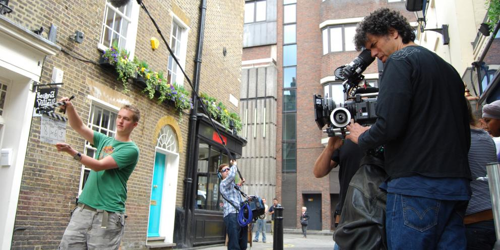 Backing London film