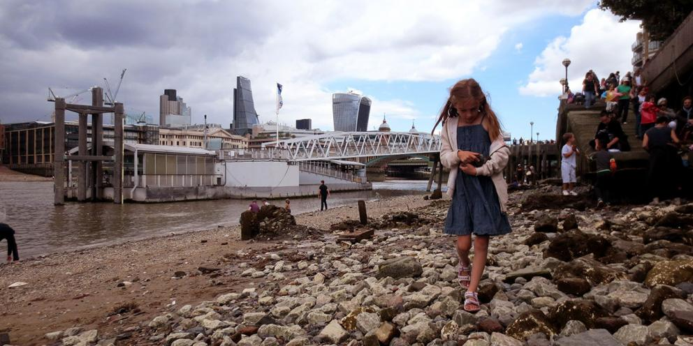 Girl on the Thames