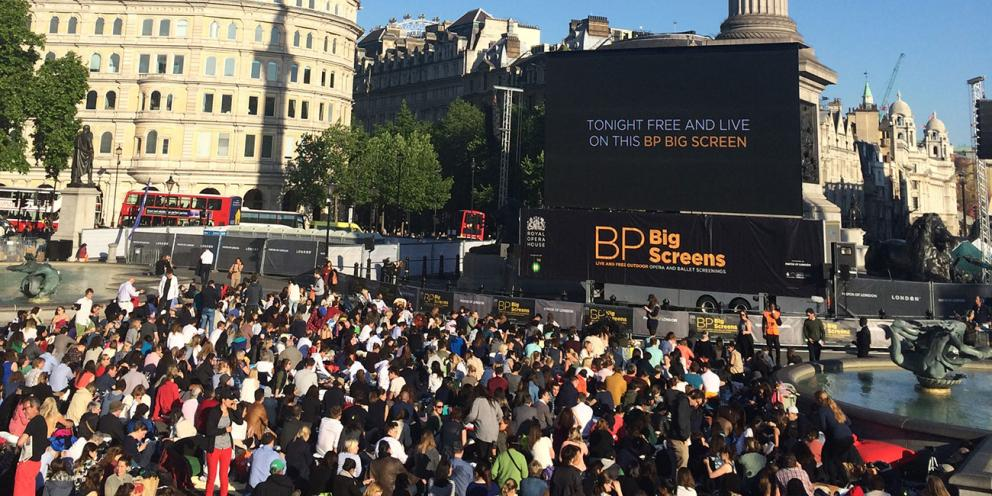ROH Big Screens in Trafalgar Square
