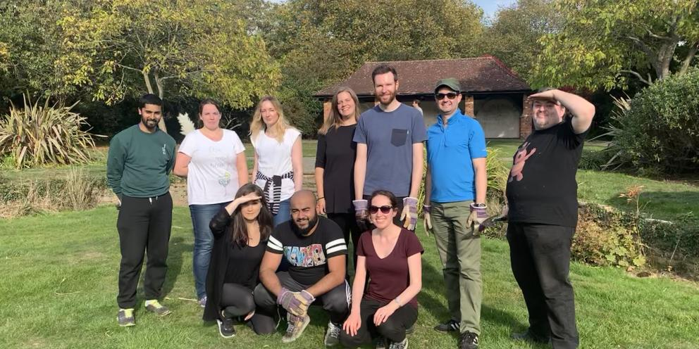 Digital Team after our day volunteering