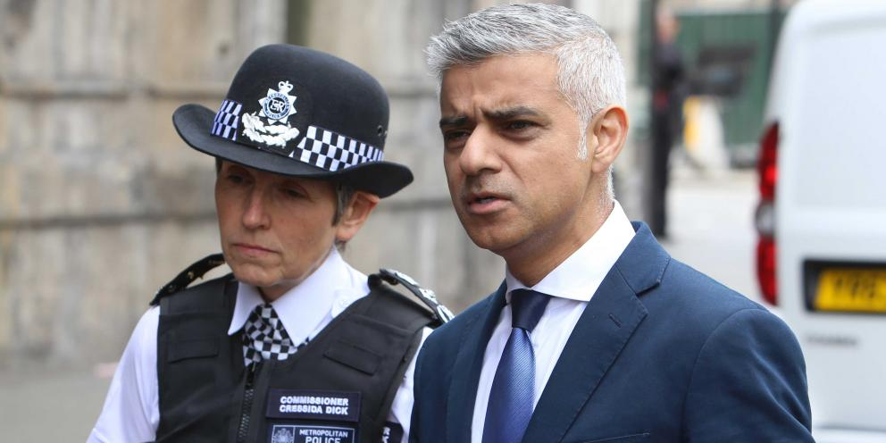 Mayor of London, Sadiq Khan and Commissioner of the Metropolitan Police, Cressida Dick