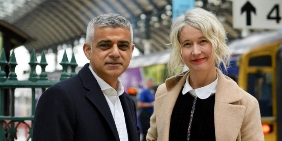 Justine Simonds and Sadiq Khan