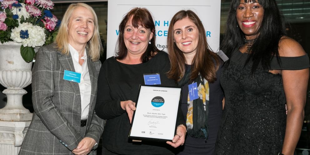 Barts Health receive their Healthy Workplace Charter Award