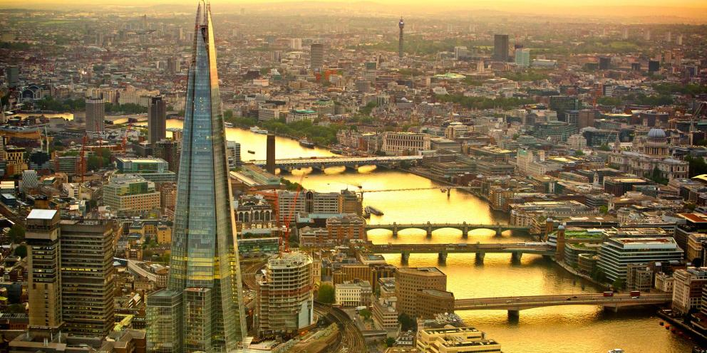 A view of the Shard, London