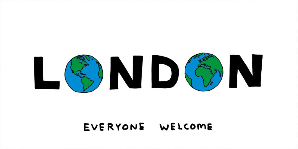 London Everyone Welcome, David Shrigley