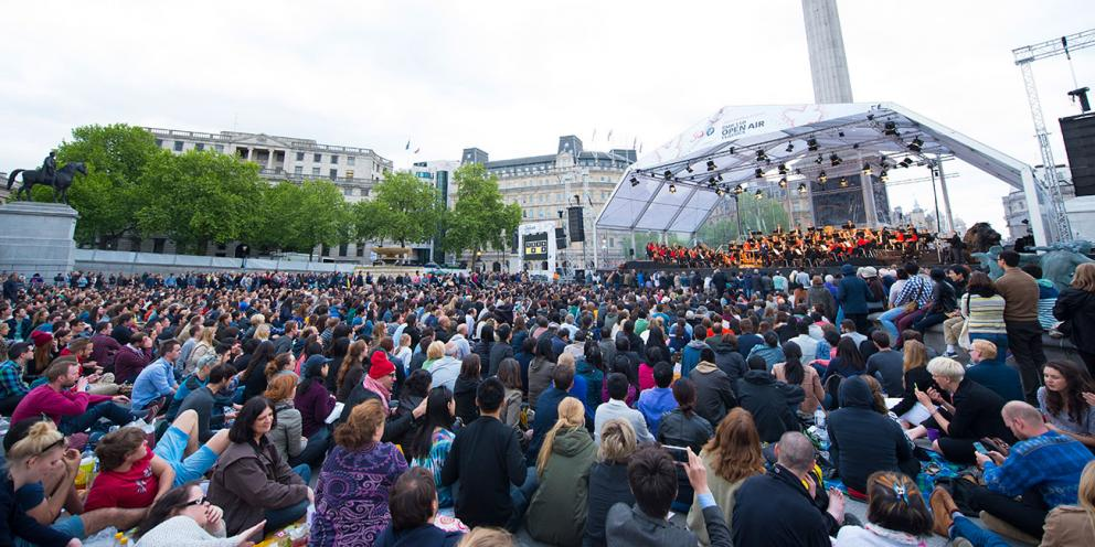 London Symphony Orchestra taking over Trafalgar Square