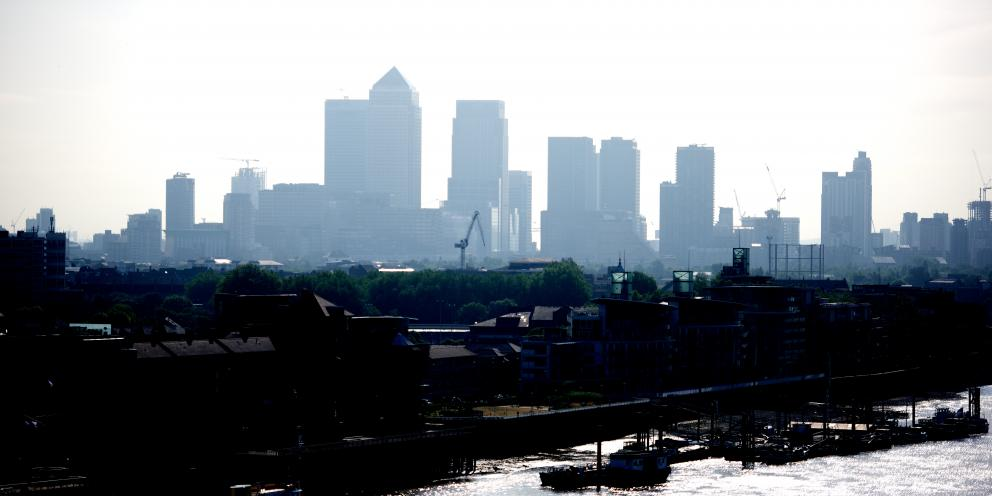 View of the London Docklands