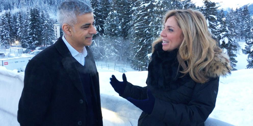 Sadiq Khan at the World Economic Forum in Davos