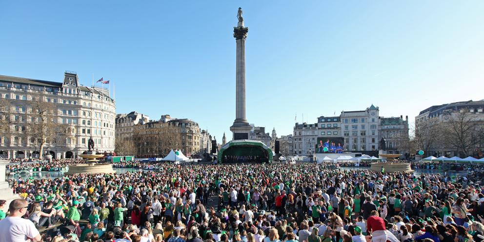 St Patrick's Day on Trafalgar Square