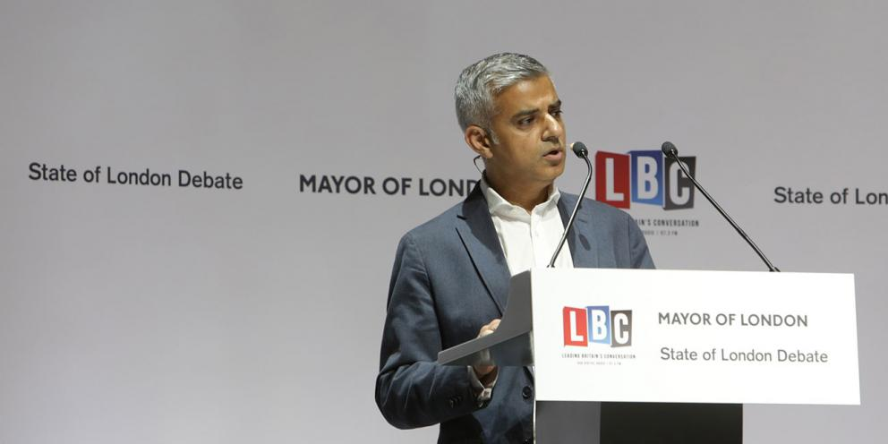 State of London Debate- Sadiq speaking