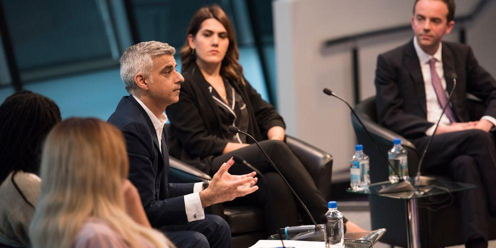 The Mayor, Sadiq Khan discussing housing issues at Cosmopolitan 'Home Made' event in City Hall.