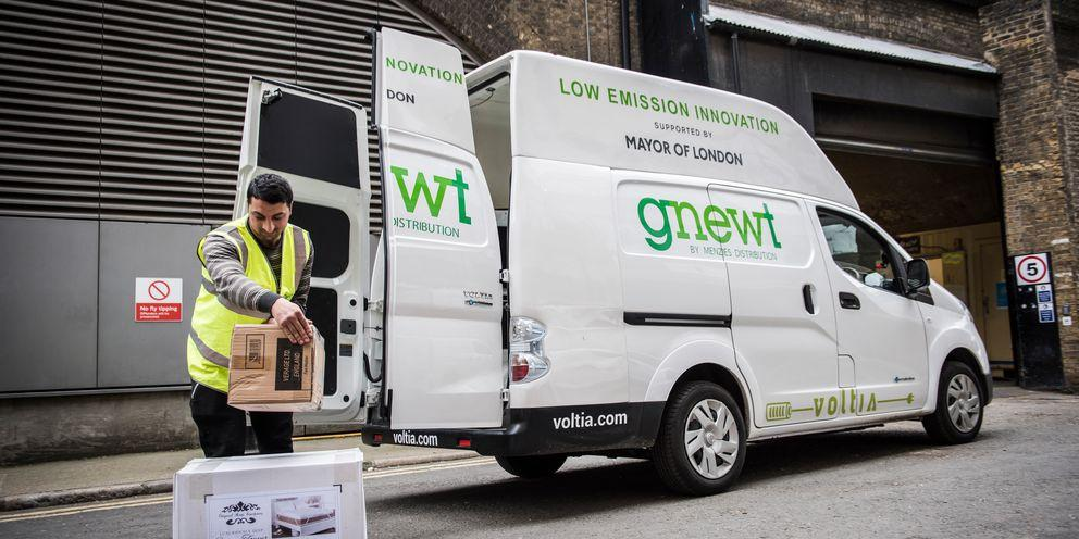Electric delivery van