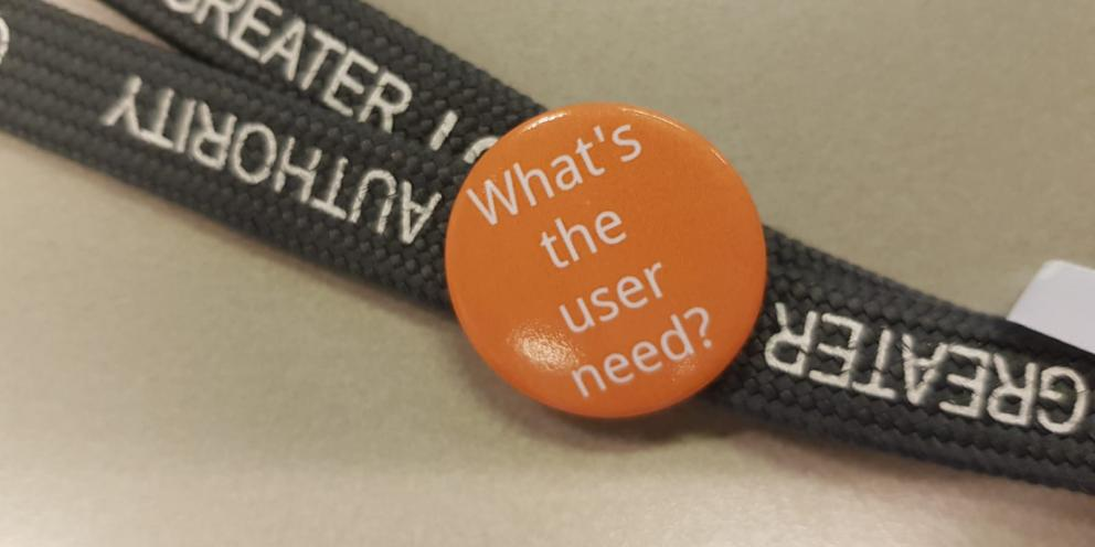 What's the user need badge