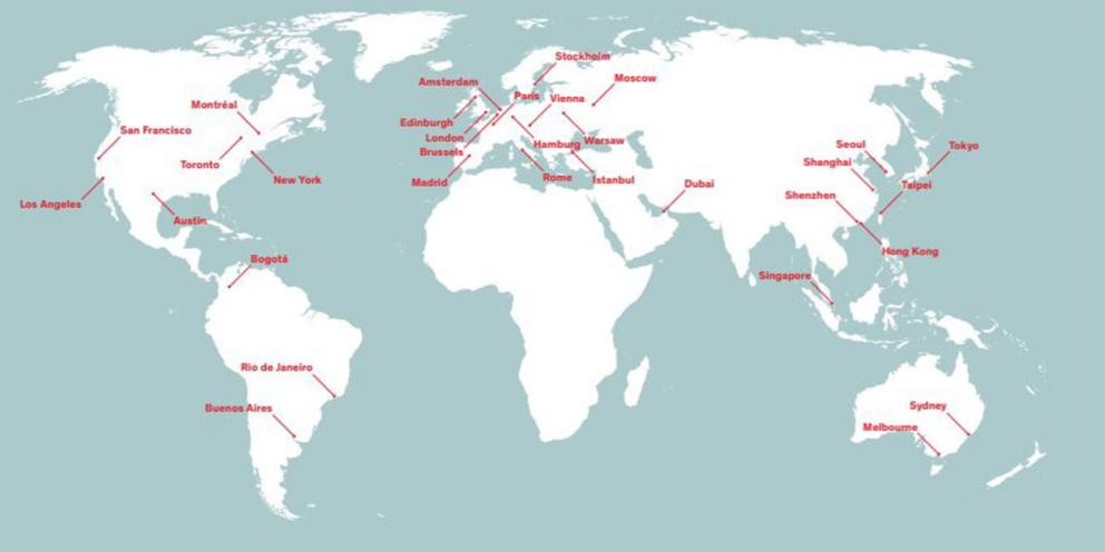 Map Of World With Cities.World Cities Culture Report 2015 London City Hall