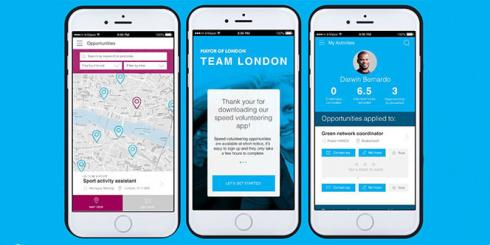 Team London volunteering app
