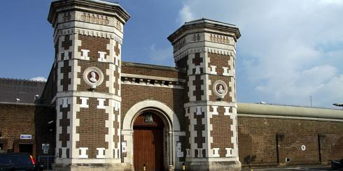 Main gate to the HM Prison Wormwood Scrubs