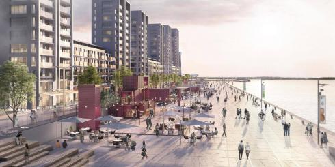 A visualisation of the Barking Riverside development