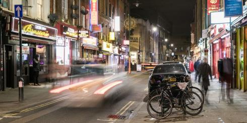 Brick lane at night