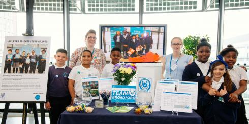 Team Bradford presentation at the Unilever Bright Future grants event