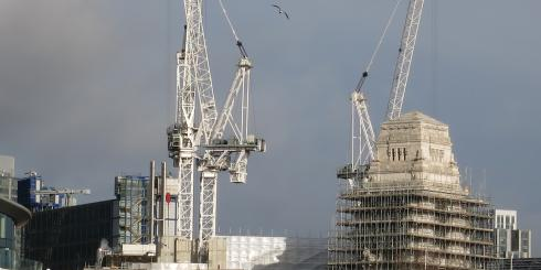 Building developments in the city