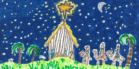 Drawing of the Nativity by Daniel Bromby