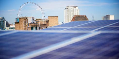 Solar panels and the London Eye