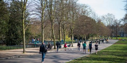 Walkers in the park