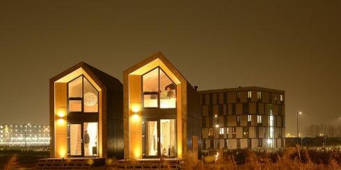 Pop-up housing built in Amsterdam