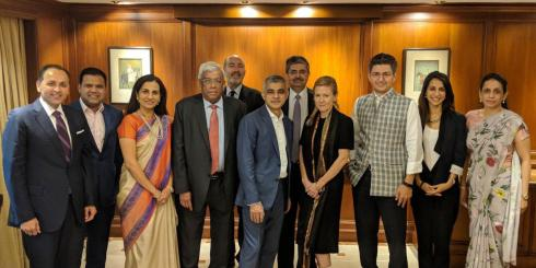 Mayor meets with senior Indian investors, business leaders and Bollywood legends