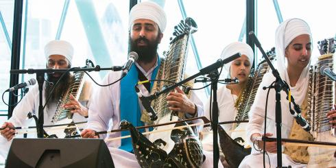 Kirtan music performance