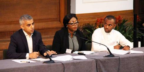 Sadiq Khan on the panel for the Knife Crime Summit 2016