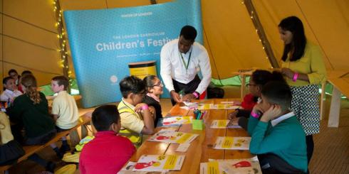 Children at London Curriculum Children's Festival