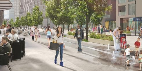 CGI rendering of Old Oak High Street
