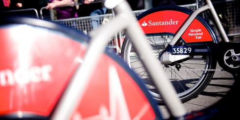 Santander cycle scheme launch