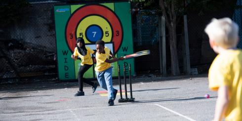 Shine Street cricket