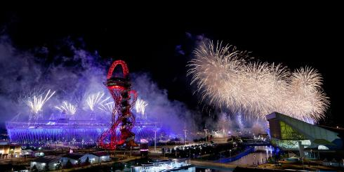 Fireworks at the Olympic Park