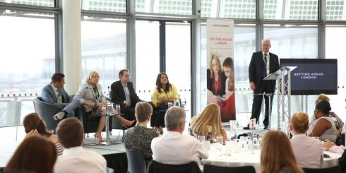 Attendees and presenters at a Getting Ahead London event