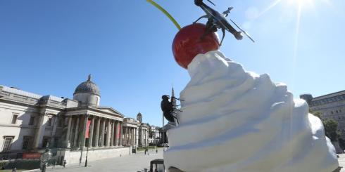 The END - the fourth plinth artwork installation