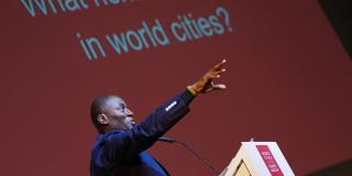 Ecok speaking at World cities forum Amsterdam