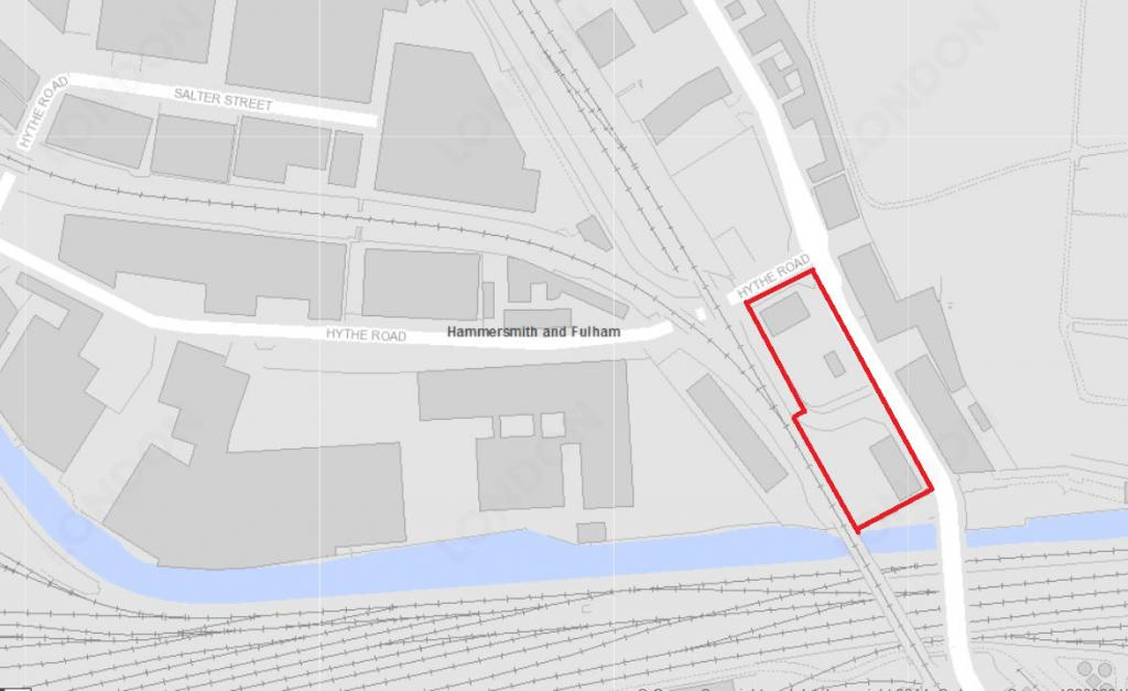 104-108 Scrubs Lane, planning application map outline