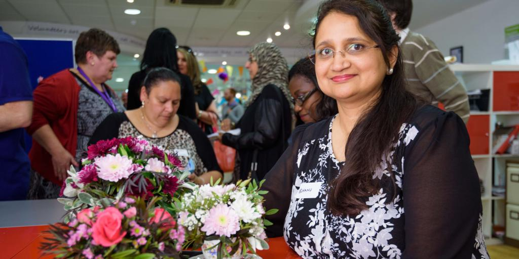 Bhanu Vadgama used the skills developed during volunteering to start her own floristry business