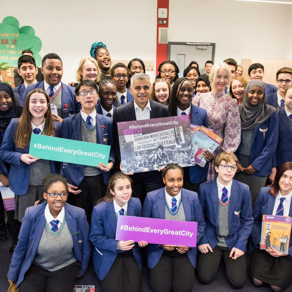 The Mayor launches the #BehindEveryGreatCity campaign with students from Platanos College in south London