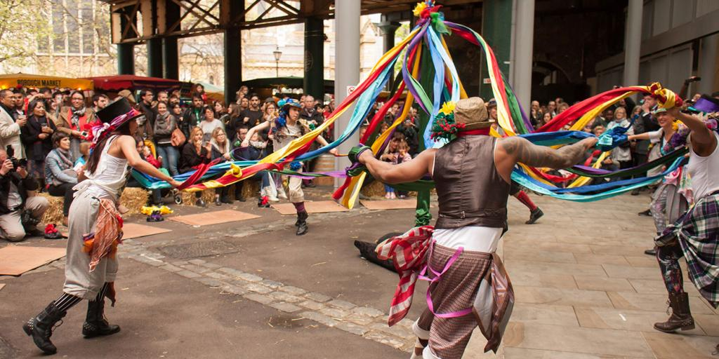 Maypole dance at Borough Market by Peter Brock