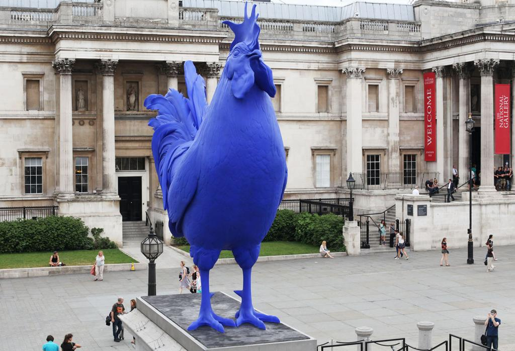 Fourth Plinth Past Commission, Hahn/Cock, Katharina Fritsch 2013