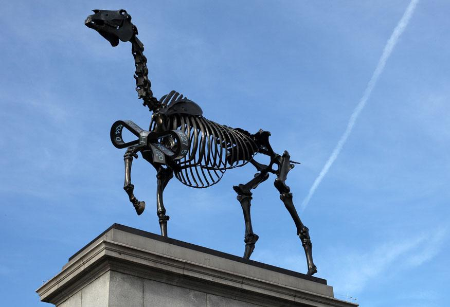 Fourth plinth past commission 'Gift Horse', Hans Haacke, 2015